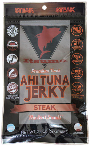Wild Ahi Tuna Jerky - Paleo Steak