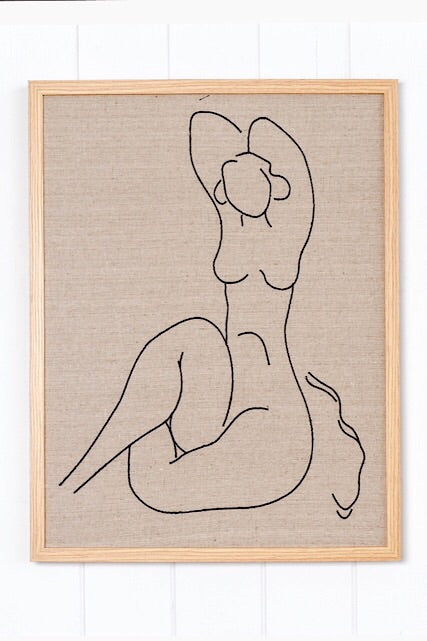 Linen Artwork Figure A