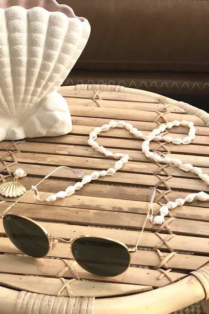 Beaded Sunglass Chain - Shell
