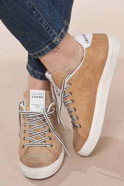 Sneaker Donna Suede 303 Sacco / Leather Crown