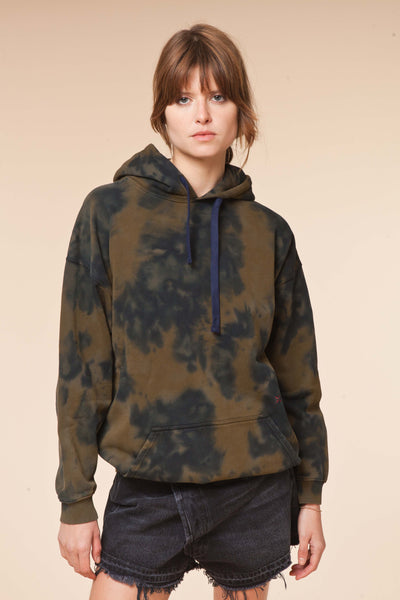 Hoodie MALIBU Army/Navy / Love and let Dye