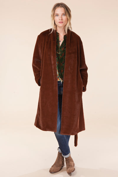 LONG PLUSH COAT / Vince