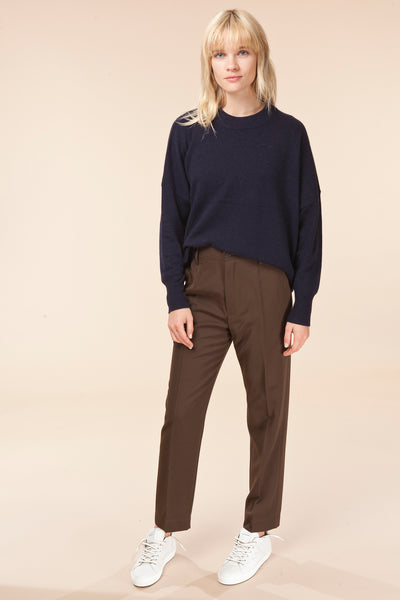 Wool Canvas High Waist Pants / forte_forte