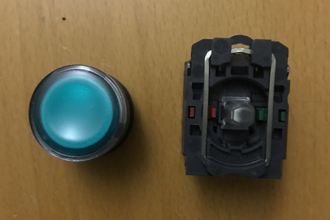 Toper Control Push Button Green