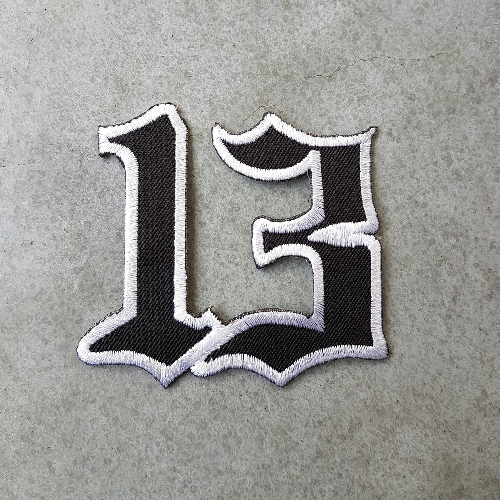 "Patch ""13"" black"