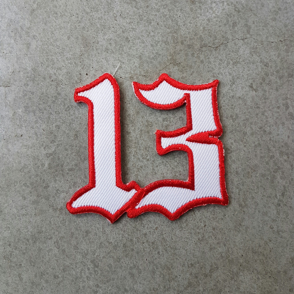 "Patch ""13"" wit"