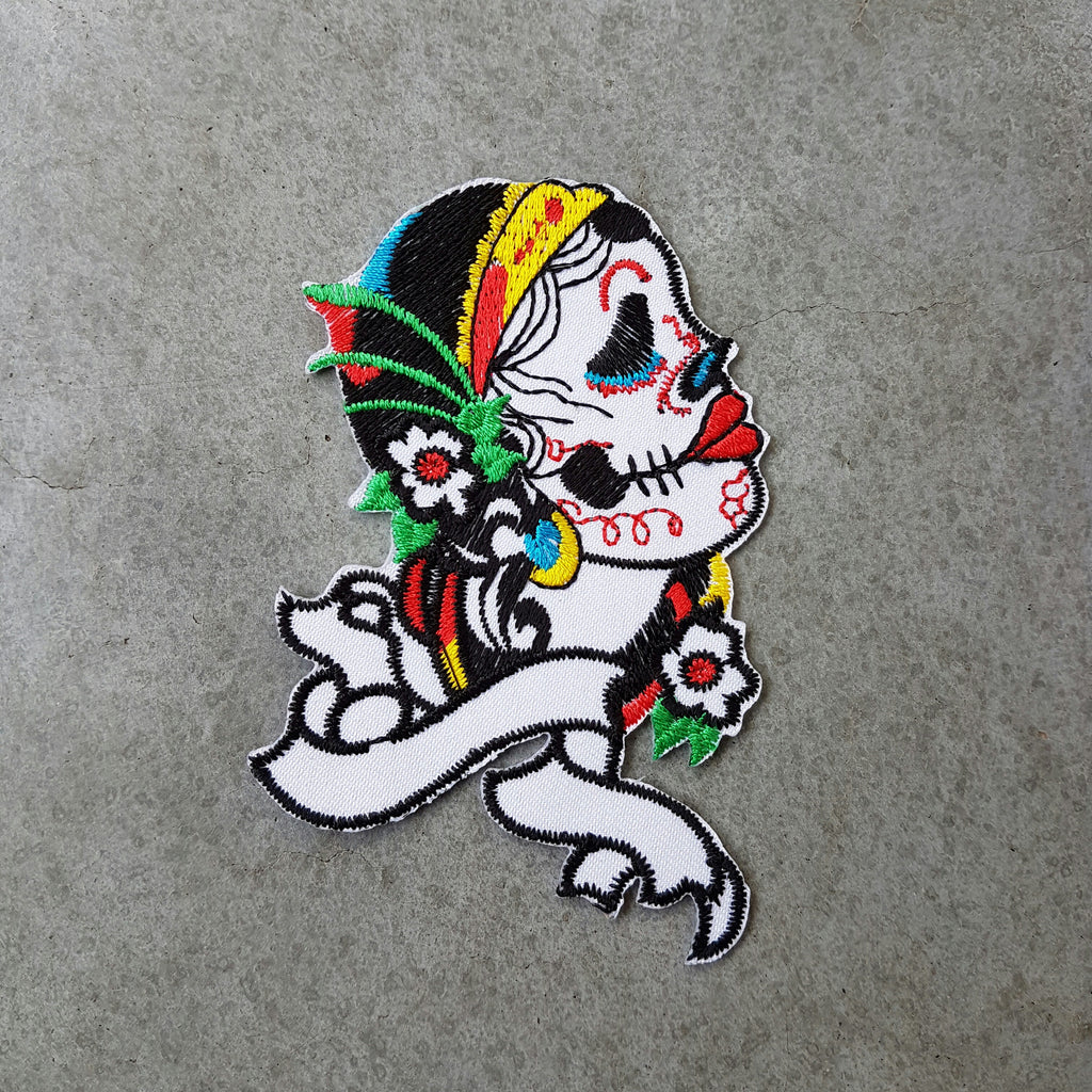 "Patch ""Lady mexican skull"""