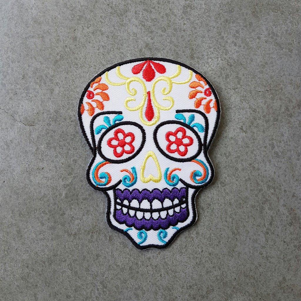 "Patch ""Sugar skull"" wit"