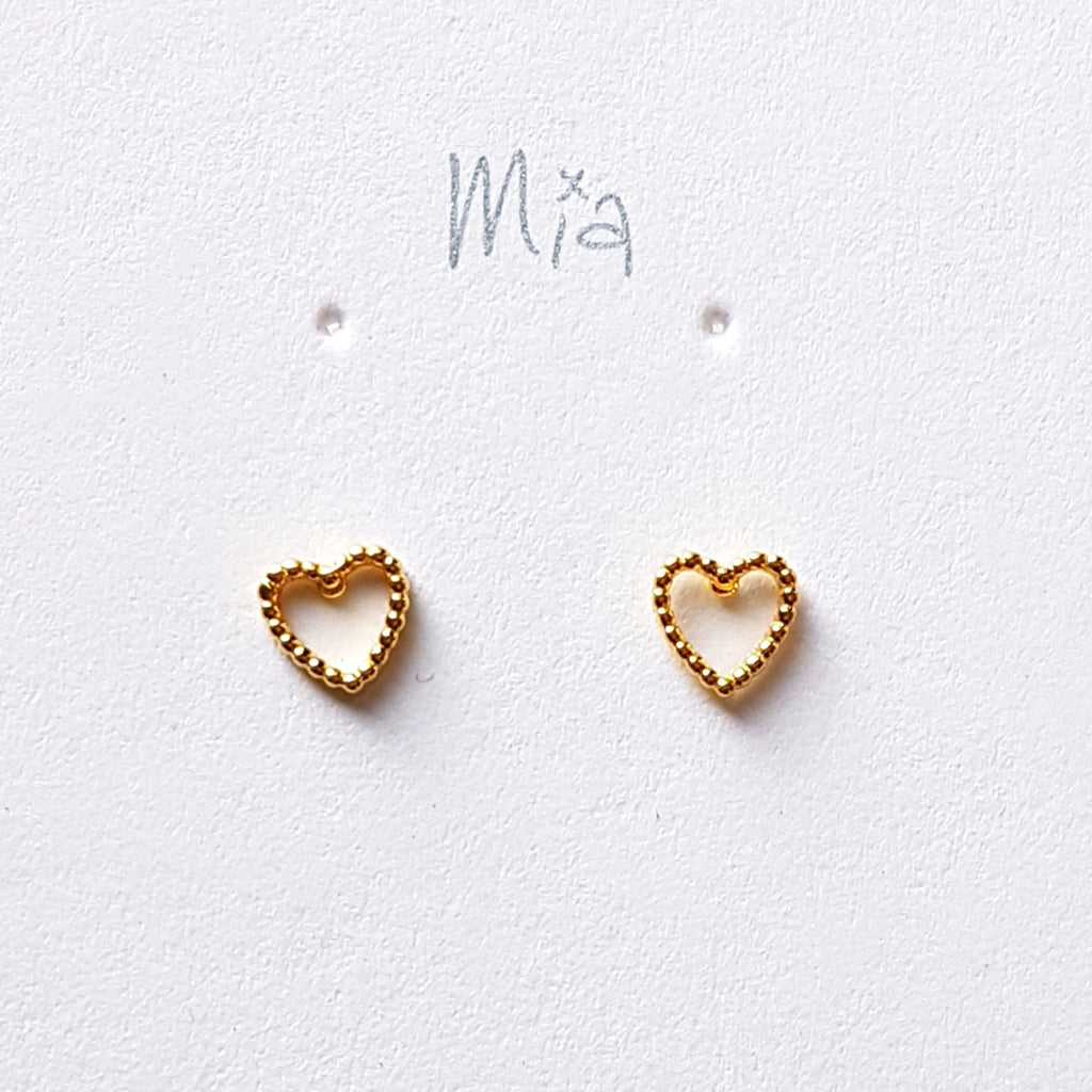 "Oorstekers ""heart"" goldplated"