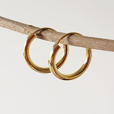 "Gold-plated oorringen ""Hoop"" 3/20"