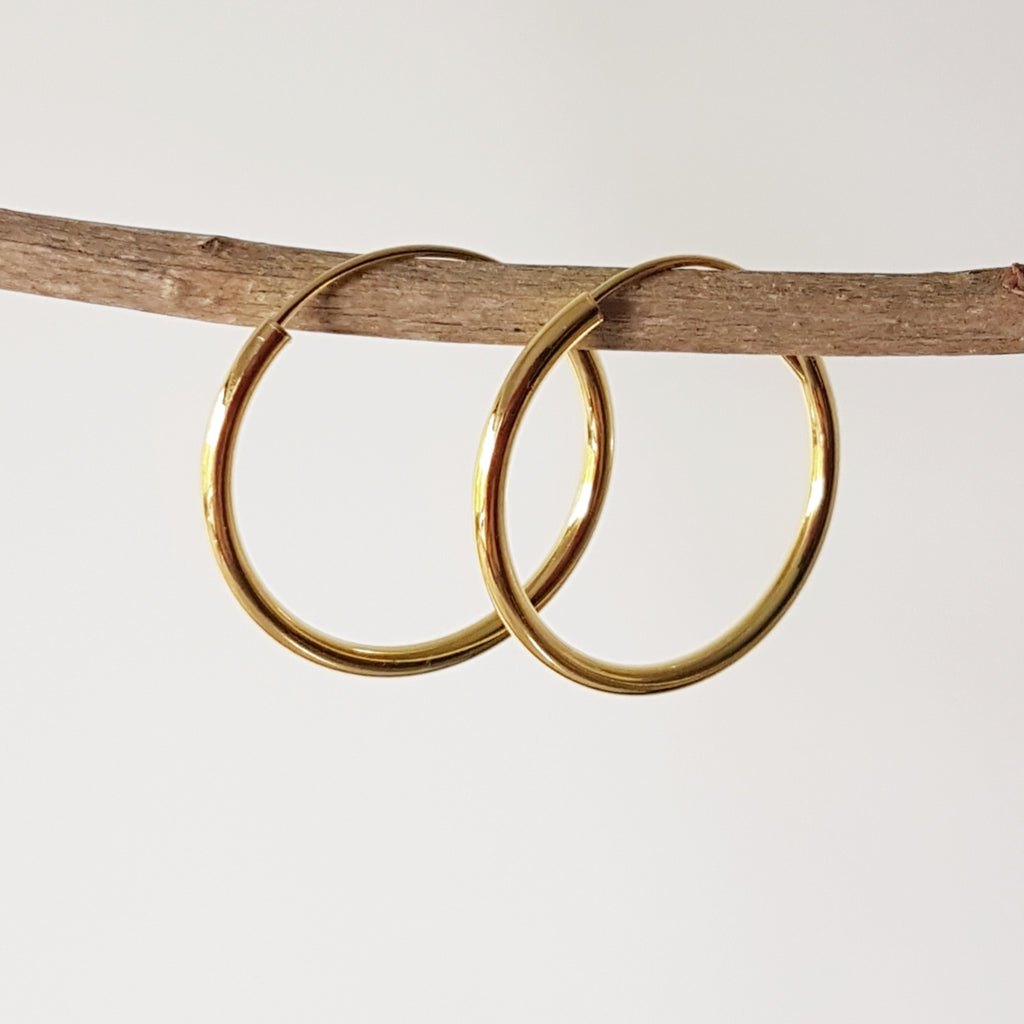 "Gold-plated oorringen ""Hoop"" 2/25"