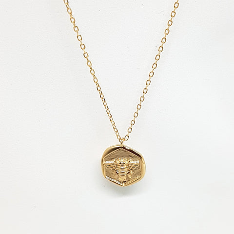 "ketting ""Bee"" Medaillon rose-gold"