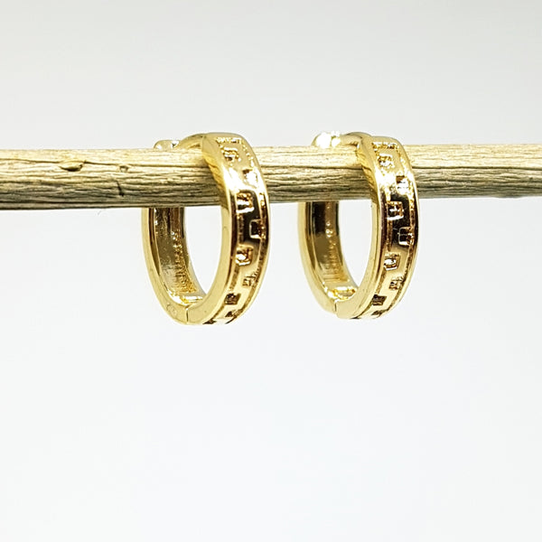 "Gold-plated oorringen ""Roman"""