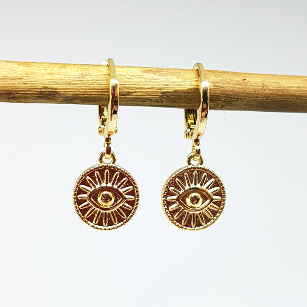 "Gold-plated oorringen ""Sunny eye"""