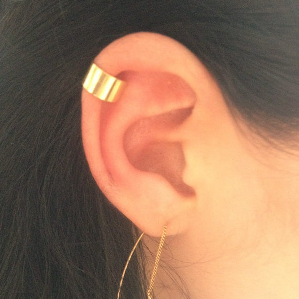 18kt gold plated ear cuff in sterling zilver