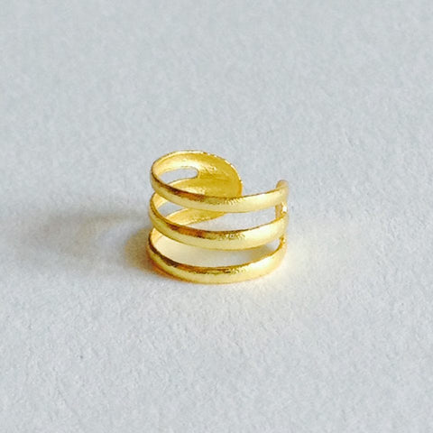18kt gold plated earcuff in sterling zilver