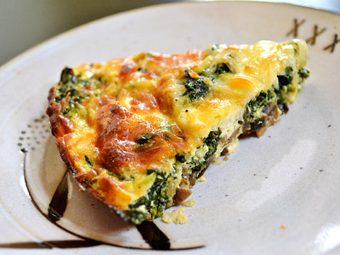 Chicken & Spinach Quiche