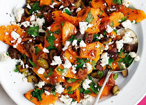 Butternut, Bacon & Feta Salad