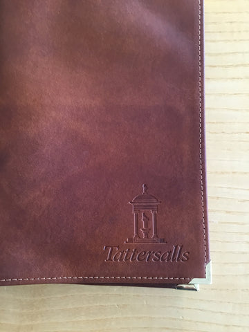 Catalogue Cover - Tan Leather