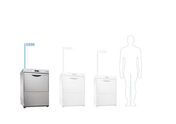 G500 Gravity Drain Classeq Glass Washer - Clear Cool