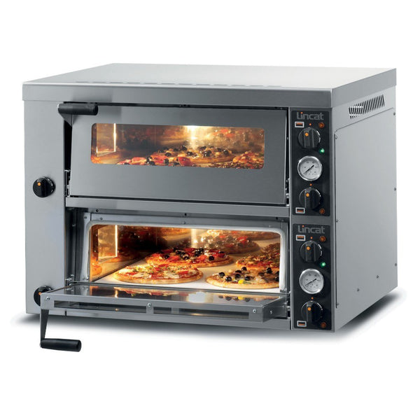 Premium Lincat PO425-2 Twin Deck Commercial Pizza Oven - Clear Cool