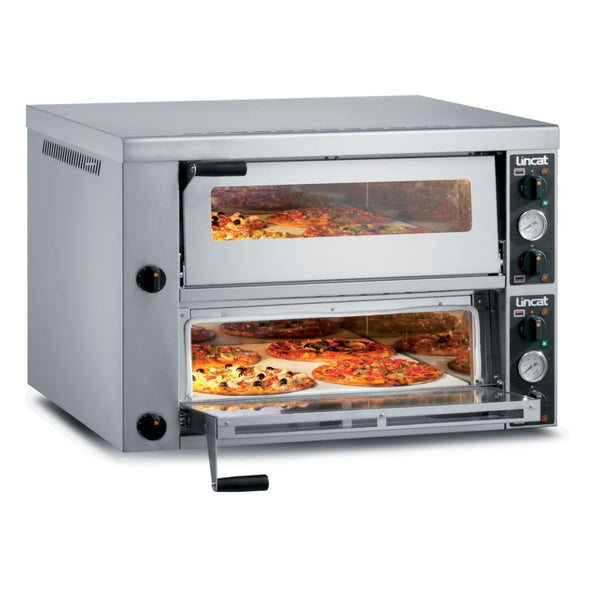 Premium Lincat PO430-2 Twin Deck Commercial Pizza Oven - Clear Cool