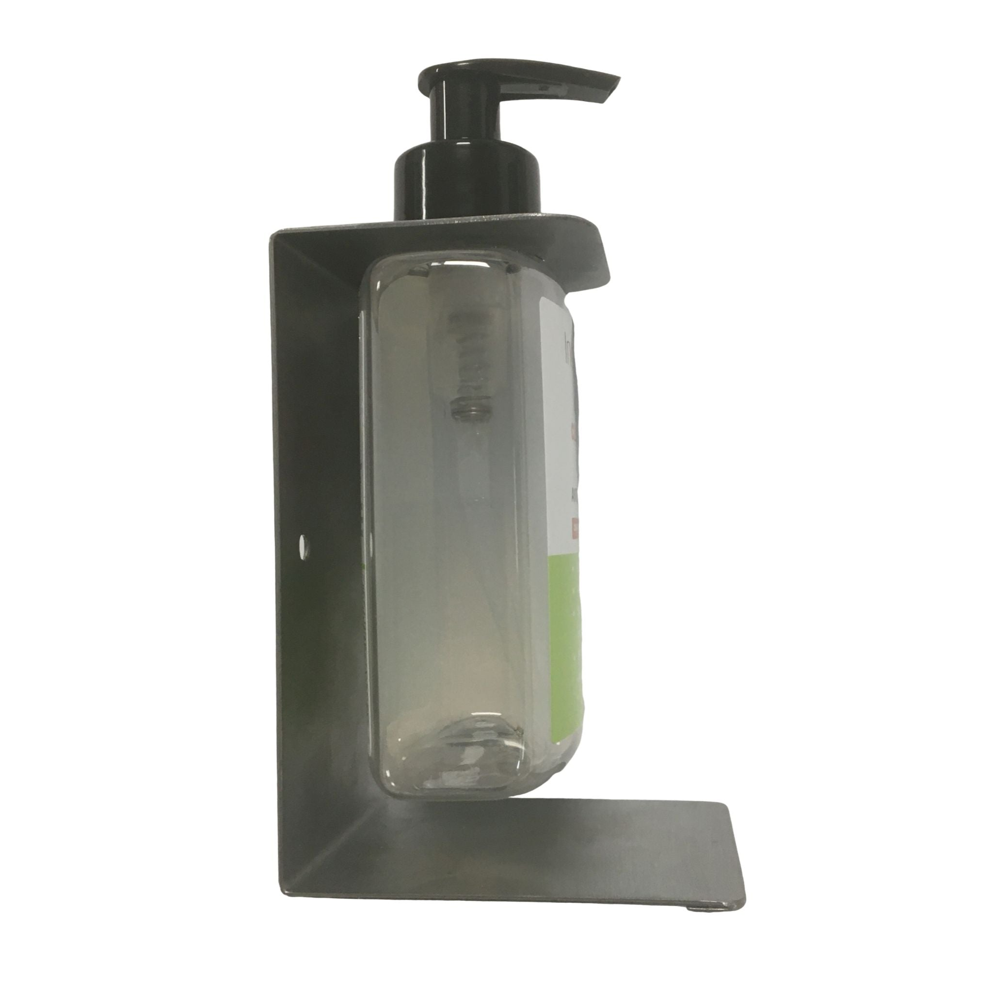 side view hand sanitiser wall bracket