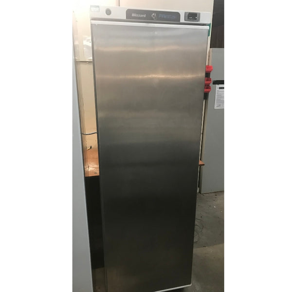 Used Blizzard L400SS upright commercial freezer front