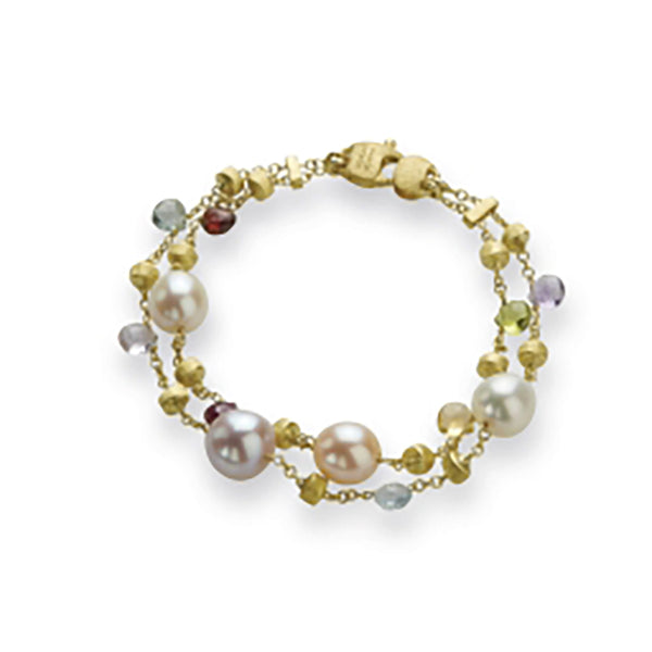 Marco Bicego 2 Strand Paradise Bracelet - 18ct Yellow Gold - BB892 MIX114
