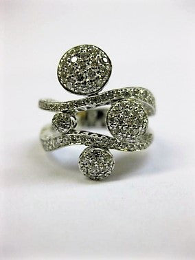 Ponte Vecchio Gioielli Diamond Ring - 18ct White Gold - CA188W