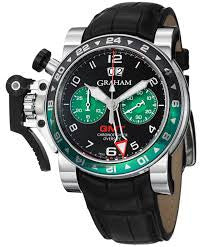 Graham Chronofighter Oversize GMT - Steel - 2OVGS.B12A