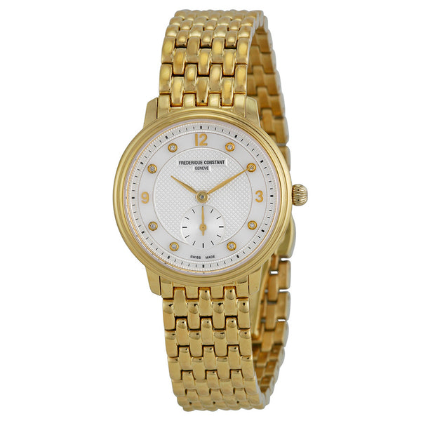 Frederique Constant Ladies Slimline Mini Diamond Dot Dial - Gold Plated - FC-235MPWD1S5B