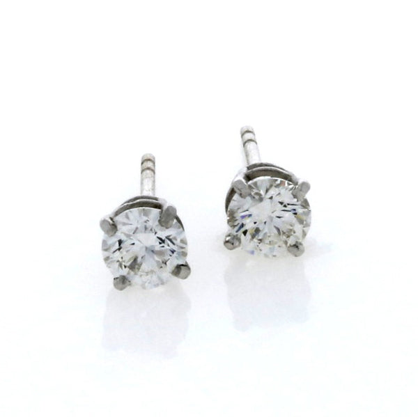 18ct White Gold Brilliant Cut Diamond Earrings