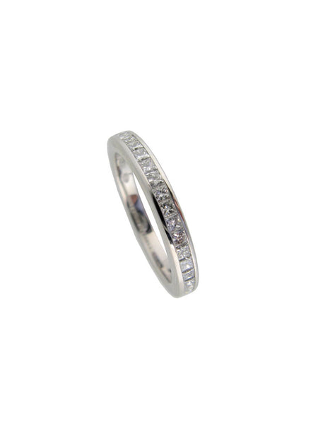 Hans D Krieger Princess Cut Diamond Eternity Ring - 18ct White Gold