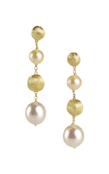 Marco Bicego Africa Drop Earrings - 18ct Yellow Gold - OB1044 PL18