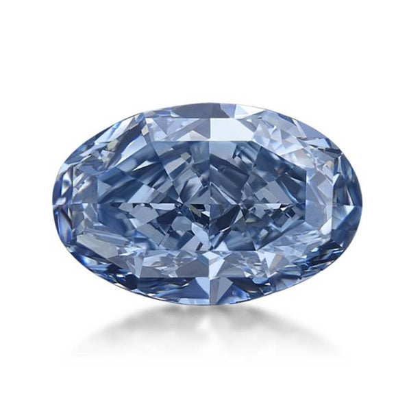 5.27ct Oval Cut Blue Diamond