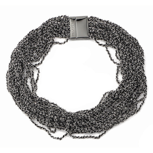 Pesavento DNA Necklace - Silver/Ruthenium - WDNAE002