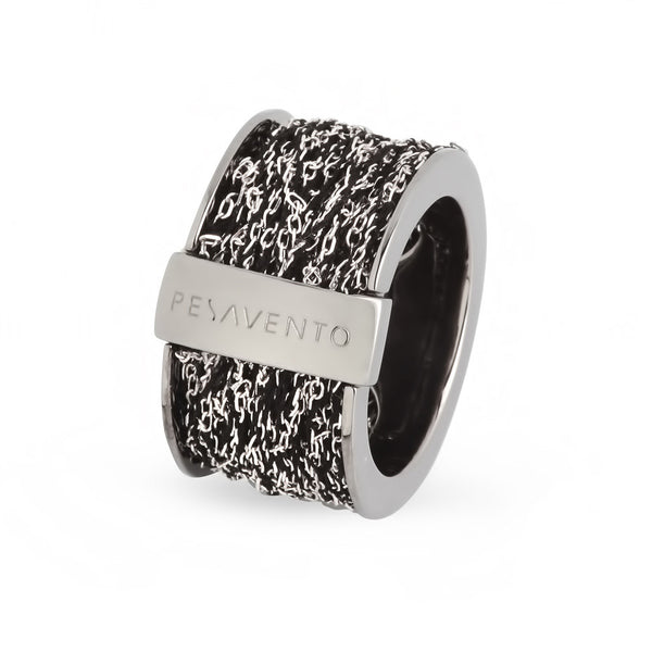 Pesavento DNA Ring - Silver/Ruthenium - WDNAA002