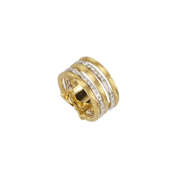 Marco Bicego Jaipur Link 5 Strand Diamond Ring - 18ct Yellow Gold - AB479 B