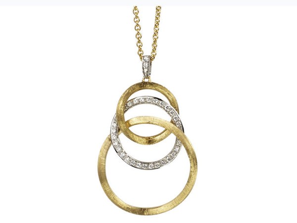 Marco Bicego Jaipur Link Diamond Pendant - 18ct Yellow Gold - CB1403 B