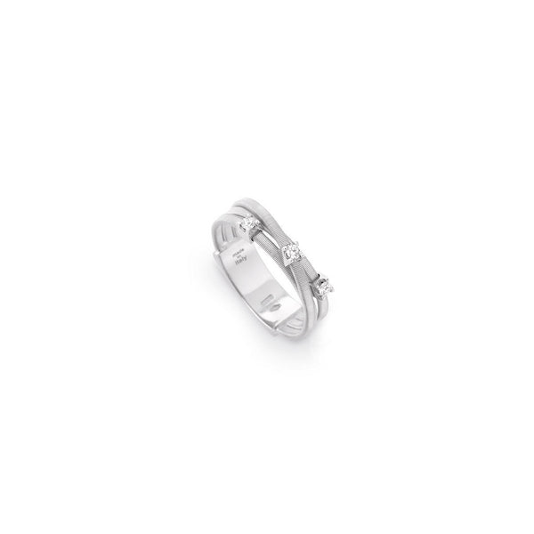 Marco Bicego 3 Row Goa Diamond Ring - 18ct White Gold - AG269 B