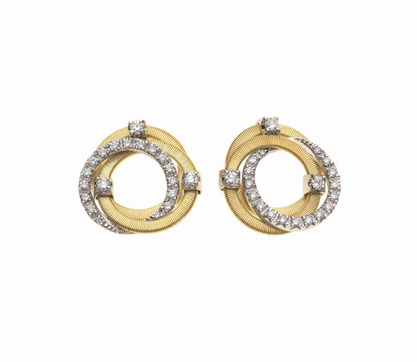 Marco Bicego Diamond Earrings - 18ct Yellow and White Gold - OG308 B2