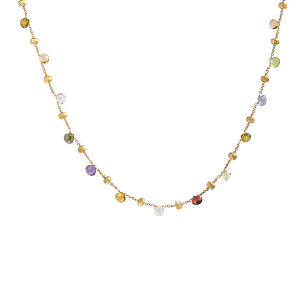 Marco Bicego 1 Strand Paradise Necklace - 18ct Yellow Gold - CB1155 MIX01