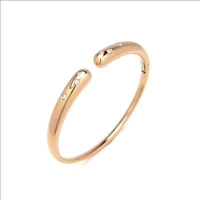 Ponte Vecchio Gioielli Iside Flex Diamond Bangle - 18ct Rose Gold - CB1430BRR