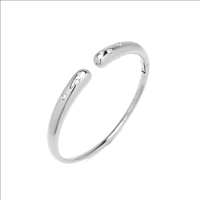 Ponte Vecchio Gioielli Iside Flex Diamond Bangle - 18ct White Gold - CB1430BRW