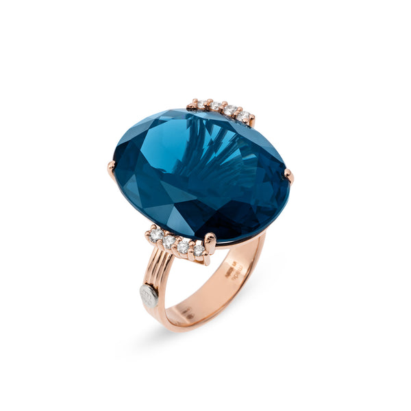 Ponte Vecchio Gioielli Blue Moon Ring - 18ct Rose Gold - SA1021SPR