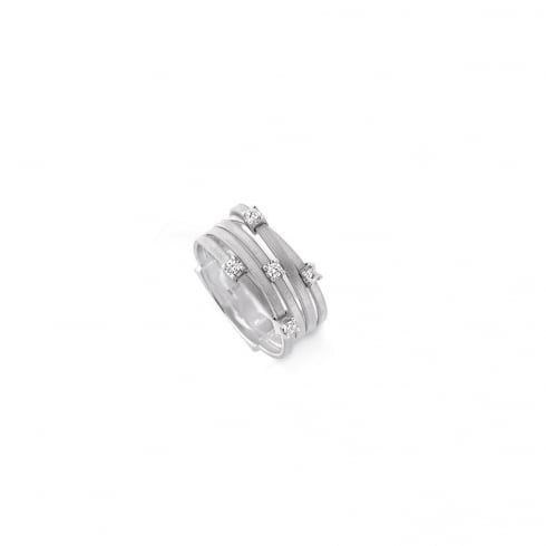 Marco Bicego 5 Row Goa Diamond Ring - 18ct White Gold - AG270 B