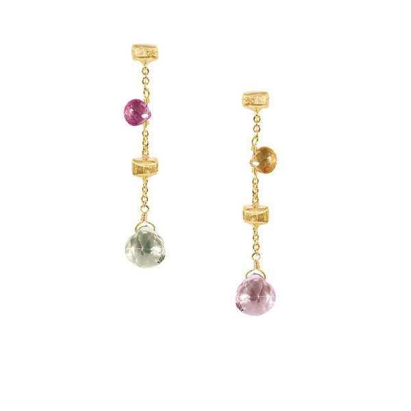 Marco Bicego 1 Strand Paradise Drop Earrings - 18ct Yellow Gold - OB580 MIX01