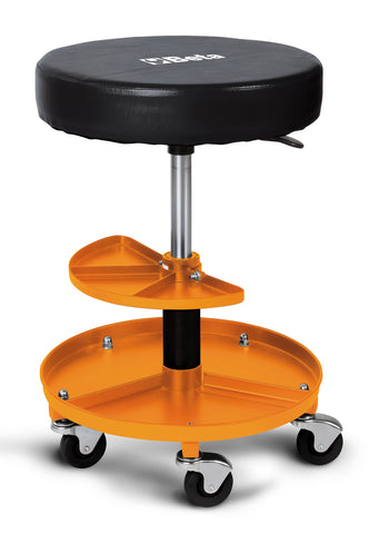 Beta 2250-O Heavy duty swivel creeper seat with tray