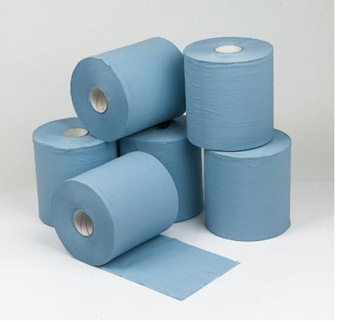 Concept 2 Ply Blue Centre Feed Roll 150m x18.5cm Pack 6
